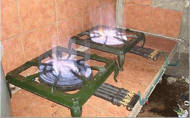 algae biogas stove